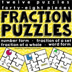 Fraction Puzzles [FREEBIE]