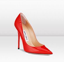 Jimmy Choo- I tried to pull of red high heels, but I think I'll just admire them from a far