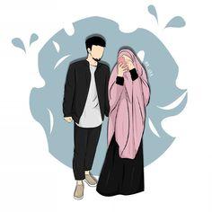 Couple Cartoon Pictures, Love Cartoon Couple, Cute Love Cartoons, Cute Couple Art, Cartoon Images, Cute Cartoon, Cute Muslim Couples, Cute Couples Goals, Muslim Girls