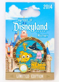 Pin 107526 DLR - Piece of Disney History 2014 - Finding Nemo Submarine Voyage