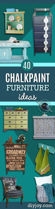 Best Chalk Paint Furniture Ideas - DIY Project for the Home - Tables, Dressers, Chairs, Hutches and Consoles