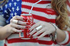 #american #flag #coke