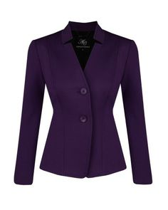 Anthea Crawford Imperial Stretch Ponti Notch Collar Jacket