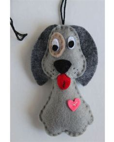 Pictures for request felt dog ornaments - Diy Fabric Basket Felt Christmas Decorations, Christmas Crafts, Christmas Ornament, Felt Animal Patterns, Felt Bookmark, Christmas Stocking Pattern, Felt Dogs, Dog Ornaments, Needle Felted Animals
