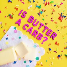 """mean girls quotes / """"Is butter a carb?"""" / art direction by Amy Chen Mean Girls Party, Amy Chen, Mean Girl Quotes, Paint Your Own Pottery, Pop Culture Art, Beautiful Mess, Hard Candy, Stickers, Art Direction"""
