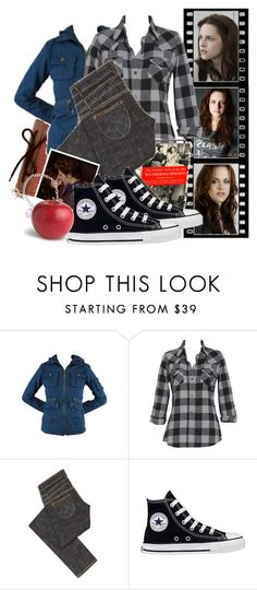 """#24- An Outfit For Bella Swan [166]"" by kayley-joy ❤ liked on Polyvore featuring Disney, BB Dakota, B. Ella, Zenggi, Cullen, Converse, FRUIT, bella swan, 60 theme twilight challenge and bella cullen"