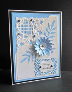 Blue Birthday. Great Cricut project