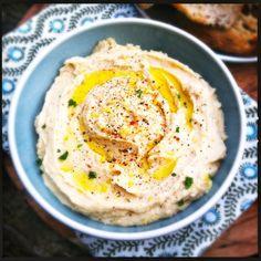 Healthy knoflook hummus - Made by Ellen
