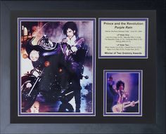 Prince Purple Rain Framed Memorabilia