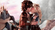 The way he looks at her ? How To Train Dragon, How To Train Your, Dreamworks Dragons, Disney And Dreamworks, Httyd, Pokemon Dragon, Dragon Movies, Cute Kiss, Hiccup And Astrid