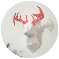 DIY Голова оленя из бумаги бесплатная выкройка скачать free