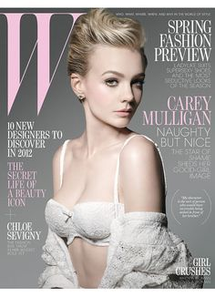 Carey Mulligan for W, January 2012.  Photographed by Michael Thompson and styled by Edward Enninful.