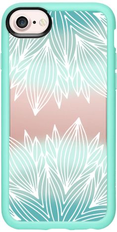 Casetify iPhone 7 Classic Grip Case - Mint my Mandalas by Jande Laulu #Casetify