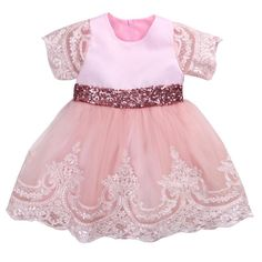4e0cee755e55 Girl Dress Floral Long Sleeve Princess Baby Girls Lace Dresses Christmas Toddler  Lace Wedding Bridesmaid Princess Formal
