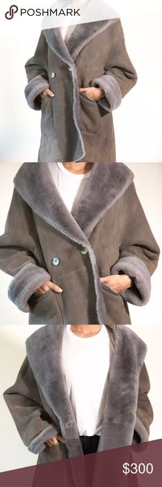 Cristiano Di Thiene Suede and fur coat This coat is the warmest of the warm. It's too big so I need to sell. The outer part is a soft beautiful grey suede and the inside is fully fur-lined. It's a size 40. Cristiano di Thiene Jackets & Coats