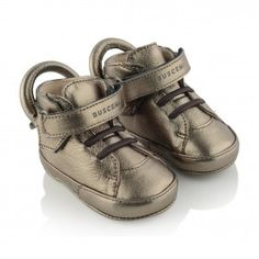 Buscemi Bronze Leather 100MM Baby Shoes
