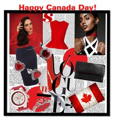 A fashion look from June 2015 featuring peplum top, navy blue skirt and leather purses. Browse and shop related looks. Happy Canada Day, Antonio Berardi, Christian Louboutin, Polyvore, Design, Women, Women's, Design Comics