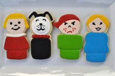 Fisher Price Little People cookies.  I could never figure out why angry freckle boy was so mean.