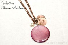 52 Mantels: DIY Charm Necklace {by One Artsy Mama}. Have lots of coin beads