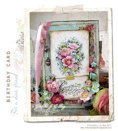 A Stempelglede DT beauty using Vintage Garden stamp set. Scrapbook Cards, Friend Scrapbook, Handmade Card Making, Beautiful Handmade Cards, Card Maker, Love Cards, Vintage Cards, Cardmaking, Birthday Cards