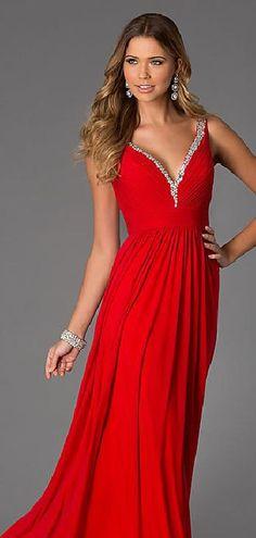 Cute Natural Long A-Line Sleeveless Chiffon Prom Dresses Sale klkdresses15485ser #longdress #promdress