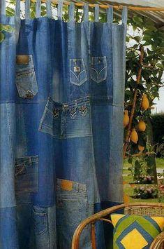 Make a jean curtain up