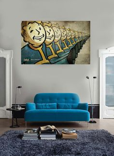 MASSIVE Fallout Poster Fallout New Vegas Block. I need this for my room. Or apartment. Fallout Game, Fallout New Vegas, The Walking Dead Poster, Fallout Posters, Beatles Poster, Vault Dweller, Pip Boy, Nerd Room, Future Games