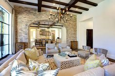 Reclaimed old Chicago brick is perfect for the Mediterranean style interior [Design: Phillip Jennings Custom Homes] - Decoist