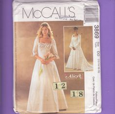 McCall's 3869 Size 12 14 16 18 Flared Sleeve by FlashbackFinds