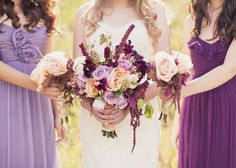 Lilac & Peach: Fall Wedding Inspiration - see more at: www.theperfectpalette.com - Color Ideas for Weddings + Parties