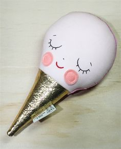 Pink Ice Cream Rattle