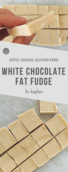 Keto, Vegan, Sugar-Free White Chocolate Fat Fudge Recipe - YUM!