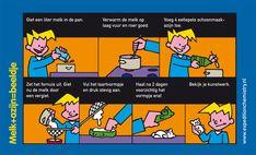 Melk + azijn = beeldje, leuk proefje voor kinderen op de basisschool!
