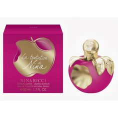 Perfume Nina Ricci La Tentationde Nina Eau de Toilett Feminino - The Beauty Box Perfumes Nina Ricci, Nina Ricci Parfum, Fragrance Online, Fragrance Mist, Beauty Box, Perfume Reviews, Cosmetics & Perfume, Cosmetic Packaging, Parfum Spray