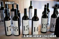 Wine Advent Calendar.. I can do this calendar .. @Sarah Chintomby Chintomby pellerine