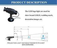 GLG-05 High Quality Waterproof Ip65 22W Led Gobo Light projector, Led Logo Light Projector