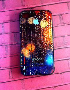 iPhone 4s case Rain Drop with Apple Logo