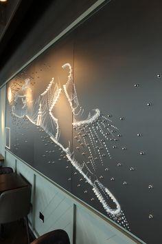 A bespoke art piece created out of football studs Clutter, Bespoke, Studs, Art Pieces, Chandelier, Football, Ceiling Lights, 3d, Elegant