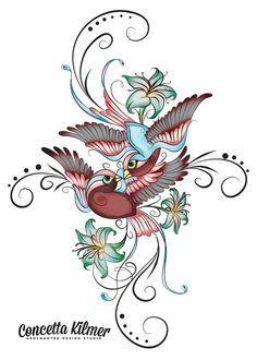 Sparrow Art Sparrow Iron On Sparrow door enchantedezignstudio