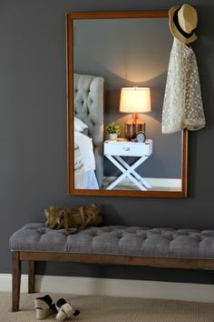 Pin for Later: A Budget-Friendly Guide to Revamping Any Room A Wall-Mounted Mirror Mirrors are a versatile element that can spruce up almost any area of the home, from the bathroom to an entryway. Home Decor Bedroom, Entryway Decor, Living Room Decor, Cute Home Decor, Cheap Home Decor, House Tweaking, Affordable Home Decor, Home Decor Accessories, Decoration