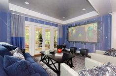 """Thank you Kathy Corbet Interiors! Daily tours of our beautiful Richmond Symphony League Designer House through October 13. Details at www.richmondsymphonyleague.org. #rvadesignerhouse It's a great day to watch a movie at the #RVAdesignerhouse. """"Brave"""" in the upstairs family room."""