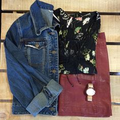 Prints and jackets and skirts, oh my! It's finally feeling like spring and with these perfect transitional pieces, you'll be set! #gypsylee #shoplocal #dtklove #kwawesome #denimjacket #floral #freepeople #springfashion #springtime #newarrivals