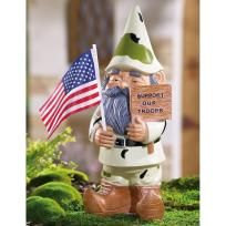Support Our Troops Gnome! A must have for any patriotic gnome fan! Photons gifts!