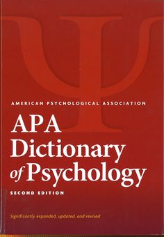 APA dictionary of psychology/ Gary R. VandenBos, editor in chief ; American Psychological Association, Editor, Psychology, Psicologia