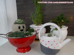 mini horta + vasinho fofo
