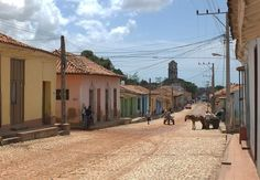 Straatbeeld van Santiago de Cuba