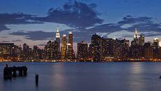 Paisagem de Nova York à noite com as novas torres (Foto: Divulgação)