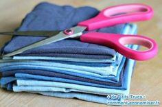 Utilisez des vieux t-shirt et draps pour faire des lingettes maison