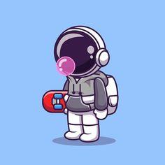 Cartoon Design, Cartoon Art, Cartoon Characters, Fictional Characters, Abstract Logo, Geometric Logo, Astronaut Cartoon, Astronaut Illustration, Astronaut Wallpaper