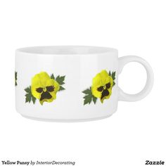Yellow Pansy Chili Bowl